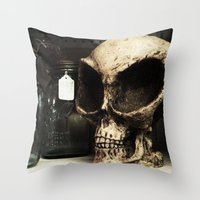 antique Throw Pillows featuring antique by jennifersupertramp