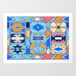 Colorful Ndebele Pattern Art Print