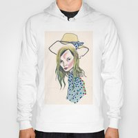 kate moss Hoodies featuring Kate Moss by Sindecualo