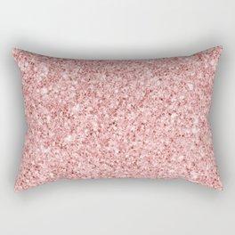A Touch of Pink Glitter Rectangular Pillow