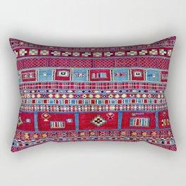 Tunisian Flatweave Antique Tribal Rug Rectangular Pillow