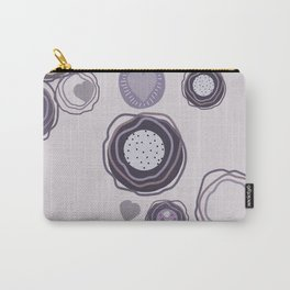 Abstract chape on a very dark grayish-purple background. Carry-All Pouch