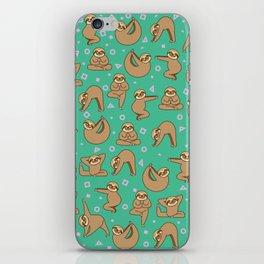 Cute Sloth Yoga iPhone Skin