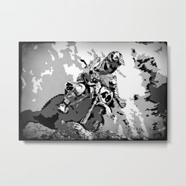 Motocross Dirt-Bike Championship Racer Metal Print