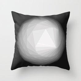 A Geometric Moon Throw Pillow