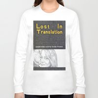 lost in translation Long Sleeve T-shirts featuring LOST IN TRANSLATION hand drawn movie poster in pencil by The Exiled Elite