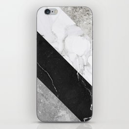 Contemporary Marble Stone Rays iPhone Skin