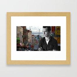 Jack Kerouac San Francisco Framed Art Print