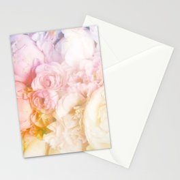 Style on a bed of peonies Stationery Cards