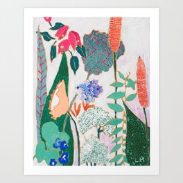 Speckled Garden Art Print