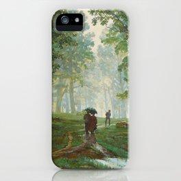 """Ivan Shishkin """"Rain in the oak forest"""" iPhone Case"""