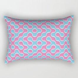 Blue Pink Truchet Tilling Pattern Rectangular Pillow
