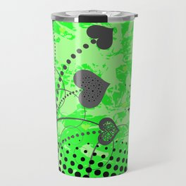 Abstract ornament with hearts Travel Mug