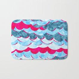 Abstract Sea Waves Design Bath Mat
