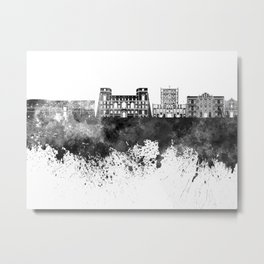 Tarento skyline in black watercolor Metal Print