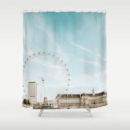London Eye Travel Photography Shower Curtain