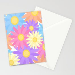 Floral Daisy Dahlia Flower Stationery Cards