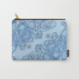 Blue floral swirls Carry-All Pouch