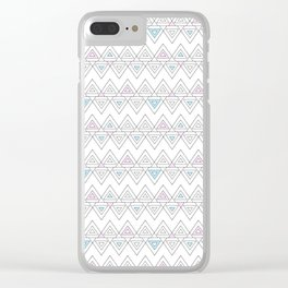Abstract pyramid Clear iPhone Case