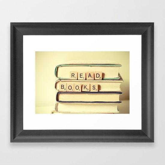 Read Books Framed Art Print