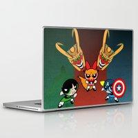 powerpuff girls Laptop & iPad Skins featuring Powerpuff Girls by milanova