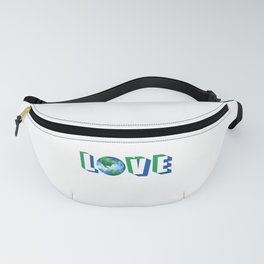 Love our Planet Earth Day Fanny Pack