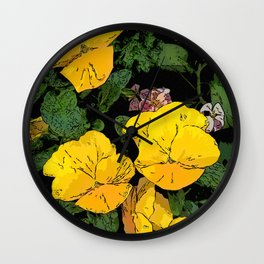 Mellow Yellow by Daniel MacGregor Wall Clock