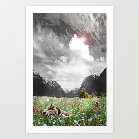 BREAK OF BEAR Art Print