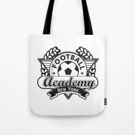 Football emblem 'Academy New York' Tote Bag