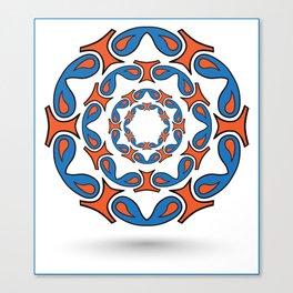 abstract mandala tribal Canvas Print