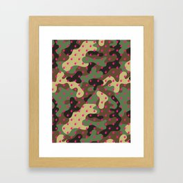 CAMO & HOT PINK BOMB DIGGITYS ALL OVER LARGE Framed Art Print