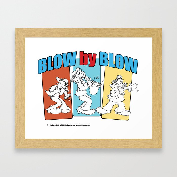Blow By Blow Framed Art Print
