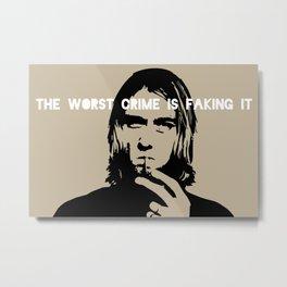 Badass Cobain Metal Print