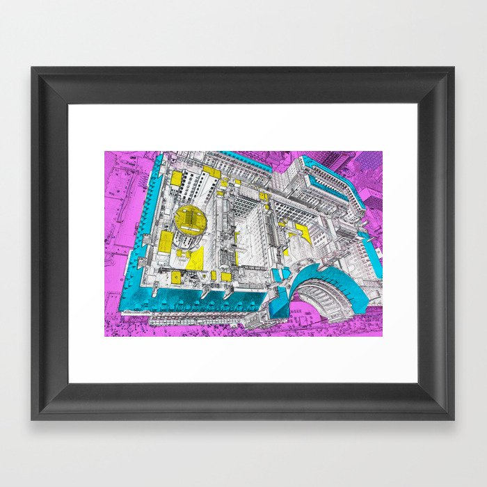 view from the eye Framed Art Print
