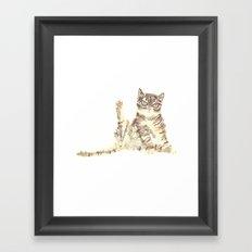 Cheeky Kitty Cat Framed Art Print
