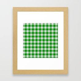 Islamic Green Buffalo Plaid Framed Art Print