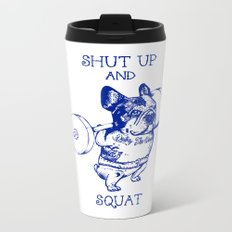 Frenchie Squat Metal Travel Mug