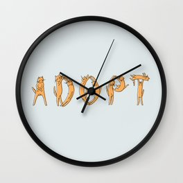 Adopt a Cat Wall Clock