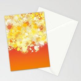 paint splatter on gradient pattern bli Stationery Cards