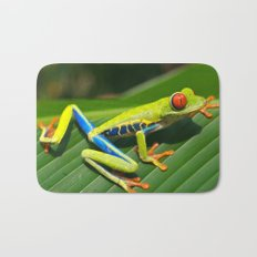 Green Tree Frog Red-Eyed Bath Mat