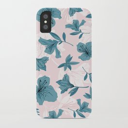 Blue Lilies iPhone Case
