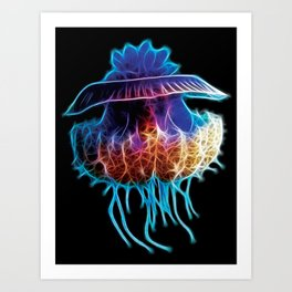 Cauliflower Jellyfish Fractal Art Print