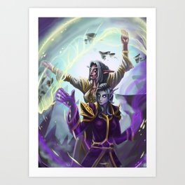 Divine Cooperation Art Print