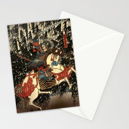 War in 1100's in Japan Stationery Cards