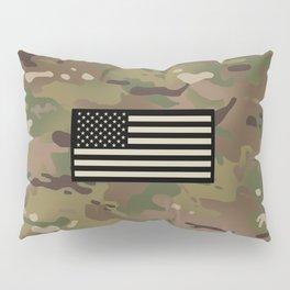 U.S. Flag: Woodland Camouflage Pillow Sham