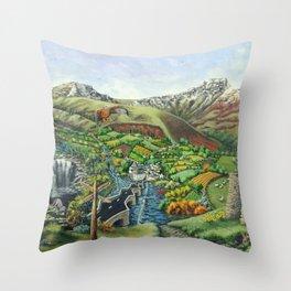 Prelude To Powys Throw Pillow