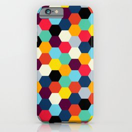 Mid Century French Tiles | Retro Bohemian Pattern iPhone Case