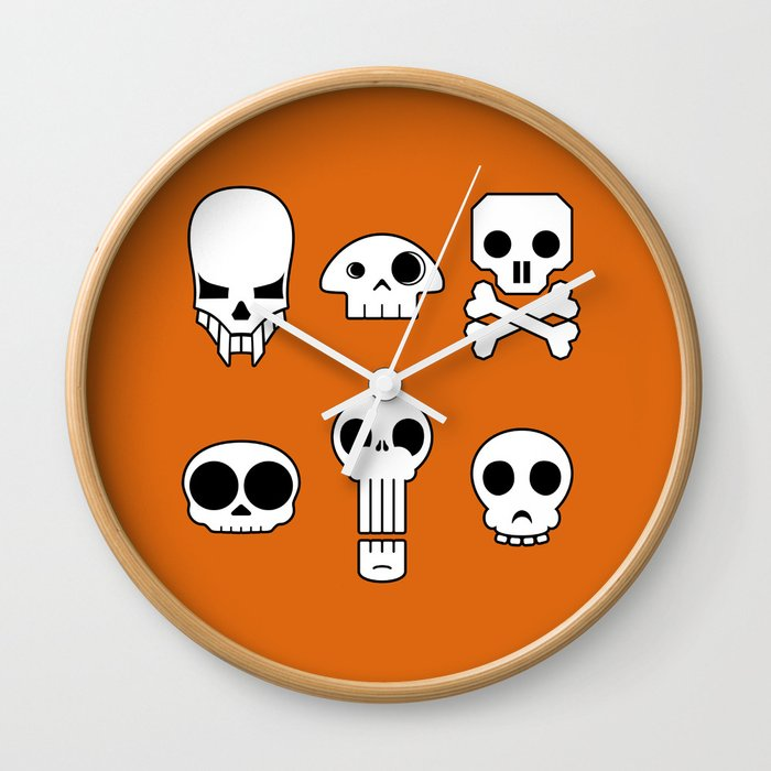 All skulls, all the time. Wall Clock