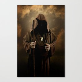 The wizard with skull pendant Canvas Print