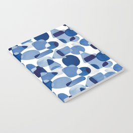 Blue Watercolour Geometric Notebook